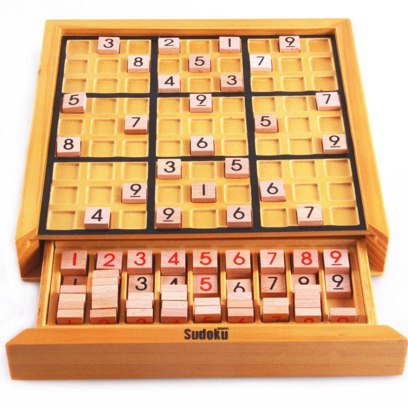 BOHS Beech Wood Adult Desktop Game Memory Chess Sudoku