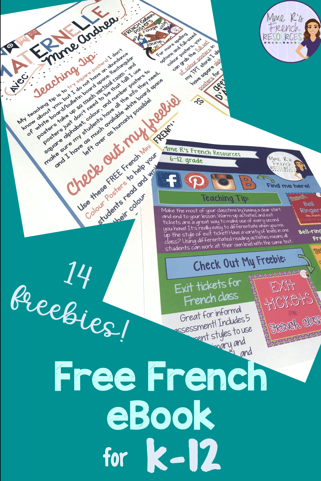 French Ebook Of Back To School Resources Freebies And