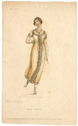Ackerman's Repository, April 1811, Ball Dress