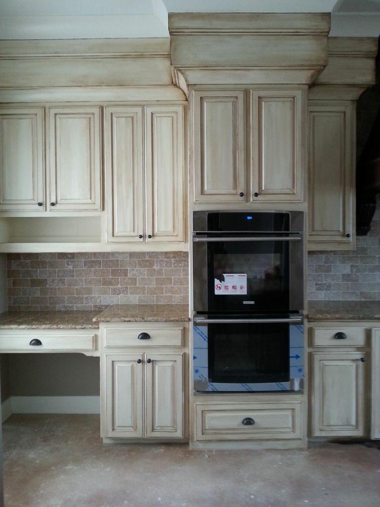 Mixed color faux finish on cabinets. Fauxshiggidy.com ...