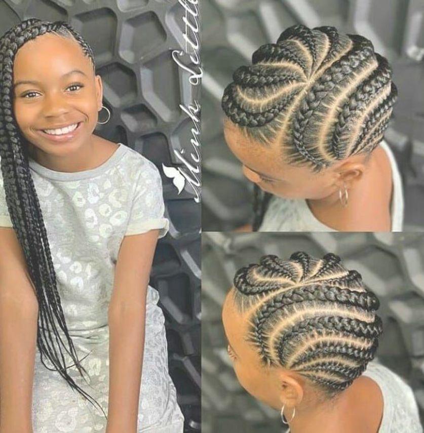 Ghanaian hairstyles on Instagram Neatly braided iamminklittle      ghanaianhairstyles iamminklittle