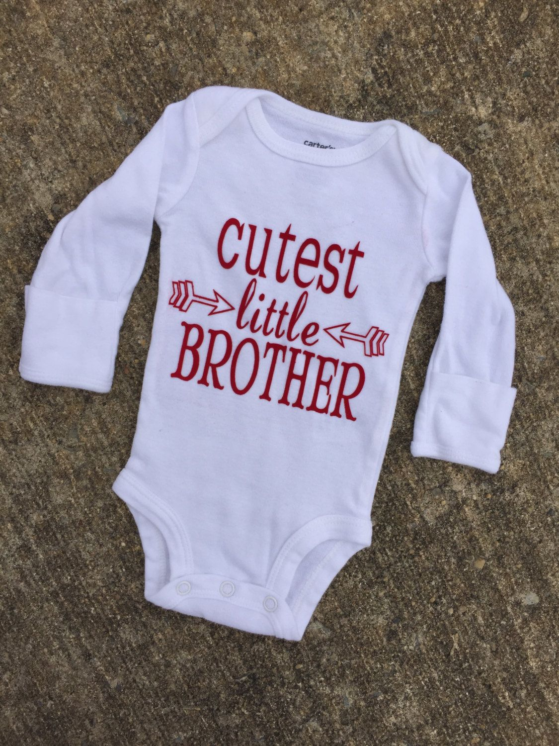 ebb9d0fd0 cutest little brother bodysuit, brother shirt, baby clothing, baby boy one  piece, arrows, cutest baby outfit, baby boy gifts, little brother by ...
