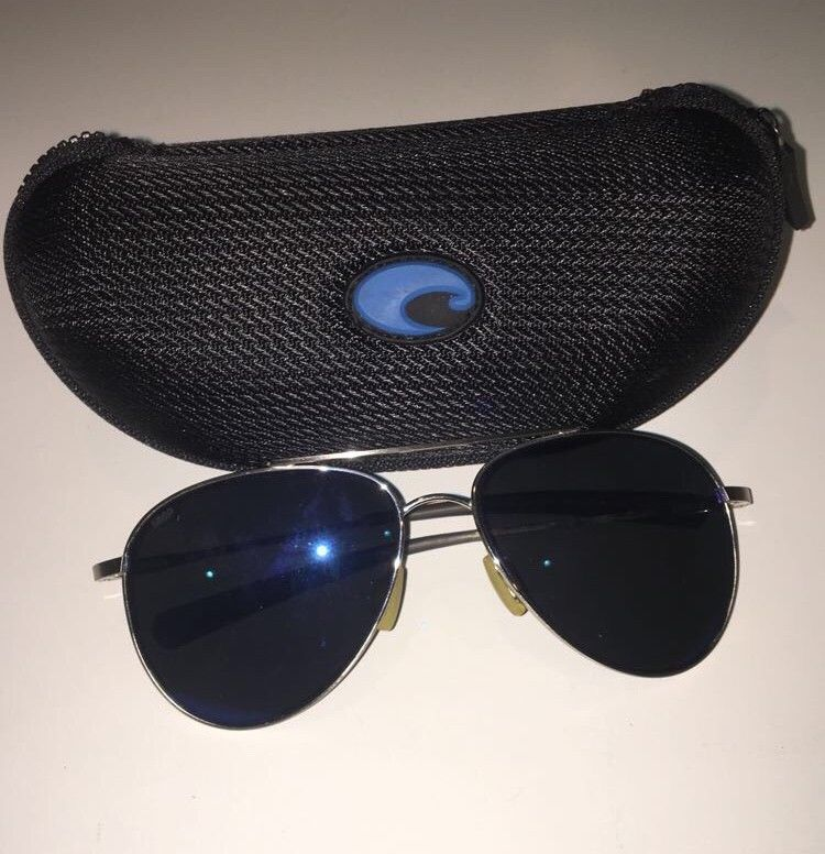 e12d68a3099 COSTA DEL MAR COOK POLARIZED COO21 OBMP SUNGLASSES PALLADIUM BLUE 580P LENS   fashion  clothing  shoes  accessories  mensaccessories ...