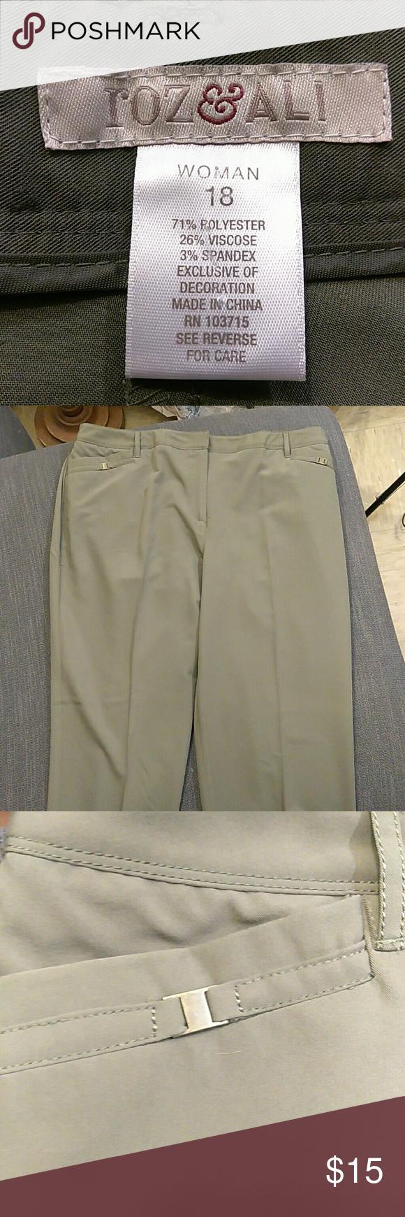 Dress pants trousers roz u al womans plus size dress pants