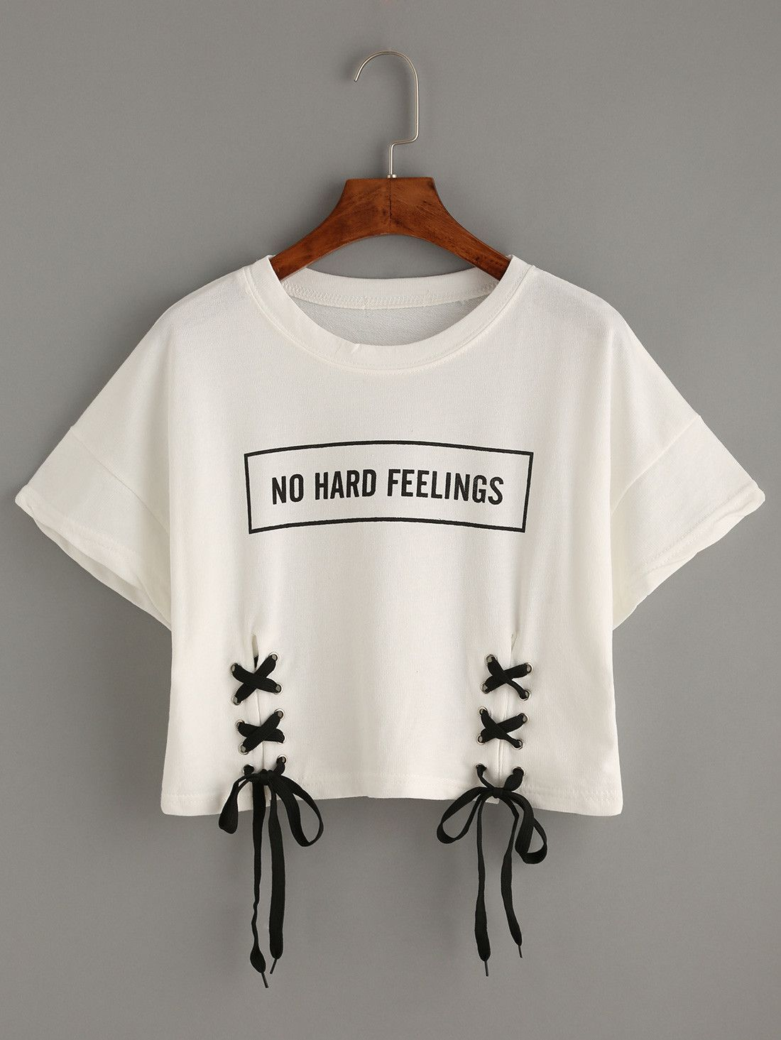 7dc881e3f987f6 White Printed Short Sleeve Cotton Women s Crop Top