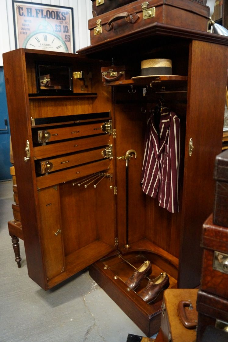 For That Man In You Re Life The Gentleman S Wardrobe This Is A Fantastic Piece Proper Name Compactu Campaign Furniture Wardrobe Furniture Gentleman S Wardrobe