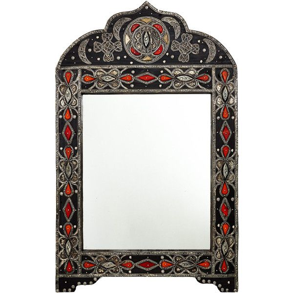 Bruce Lepere Large Wooden Frame Inlaid Mirror (665 AUD) ❤ liked on ...