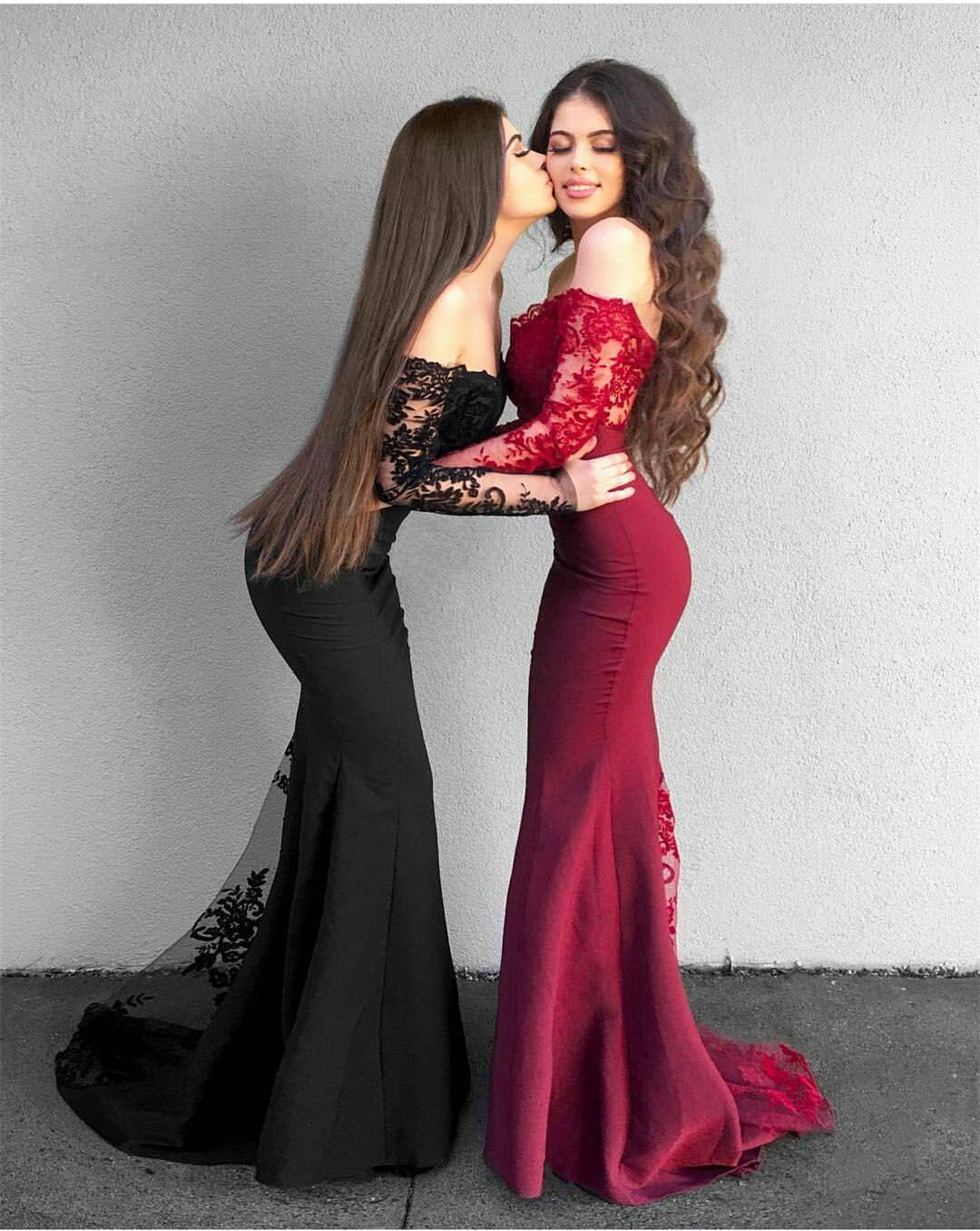 Long sleeves prom dress beautiful gowns and long dresses