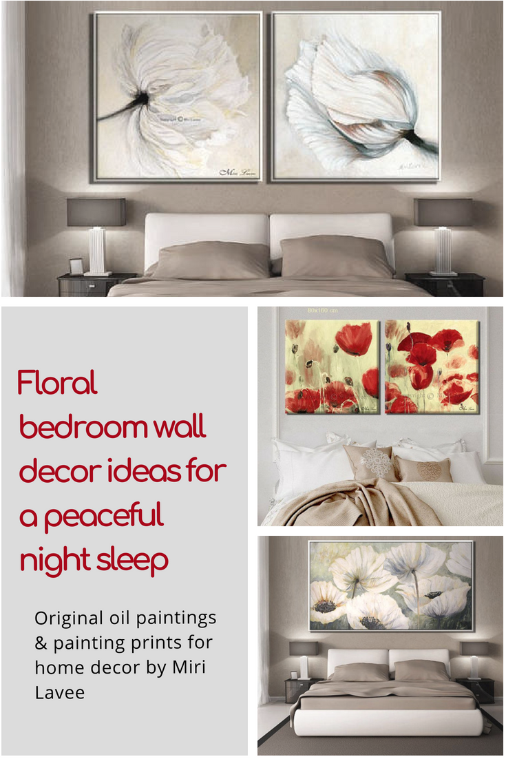paintings on canvas large wall art flower oil painting living