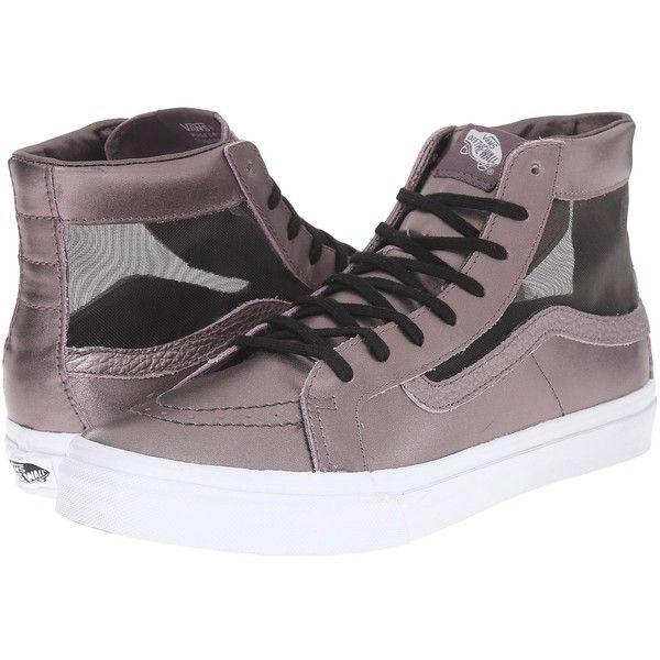00346f66bca711 Vans SK8-Hi Slim Cutout ((Mesh Metallic) Thistle Purple True White ...