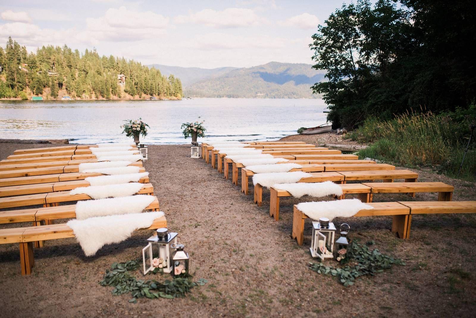 Lakefront Cabin Wedding Wedding Ceremony Decorations Cabin