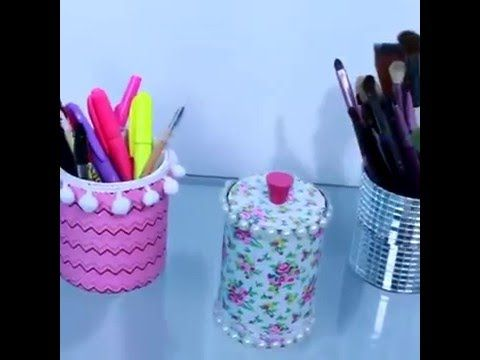 Diy Three Ideas For Home Office Decoration 5 Minute Crafts Diy