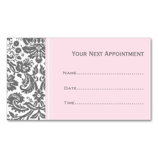 Pink grey damask salon appointment cards business card template pink grey damask salon appointment cards business card template cheaphphosting Gallery