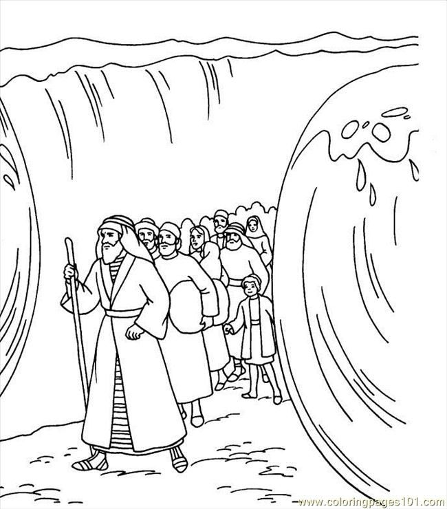 Moses Cloroing Pages Free Printable Coloring Page  Other Religions