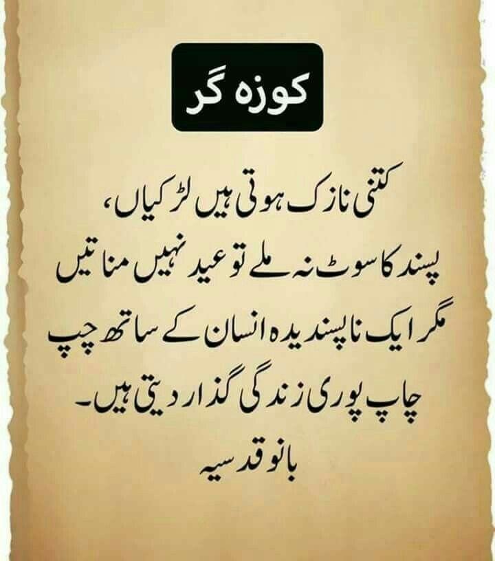 Girls Urdu Level One Liner Philosophy Urdu Quotes Urdu