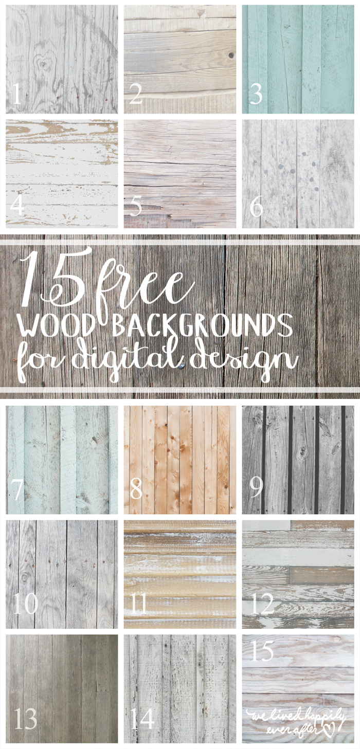 Free Wood Textures for Digital Design from Graphic Stock | How to Make a Textured Stamp | We Lived Happily Ever After