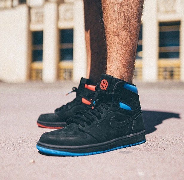 1dfe96adddbcc0 NIKE AIR JORDAN 1 RETRO HIGH OG QUAI 54 PARIS BLACK RED BLUE AH1040 ...