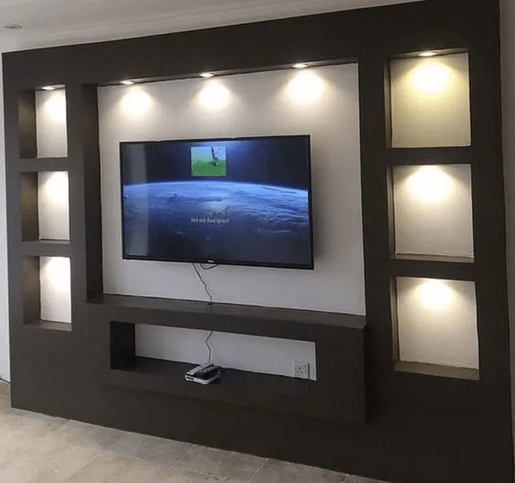 33 Inspiring Drywall Design Ideas To Beautify Your Interior Pimphomee Tv Wall Design Tv Wall Decor Wall Tv Unit Design