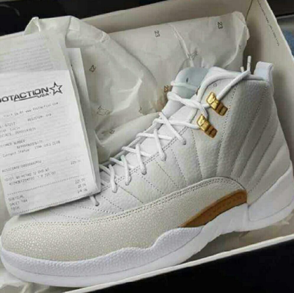 info for aedd9 c39b0 Jordan Shoes   Air Jordan Retro Ovo 12   Color: Gold/White ...