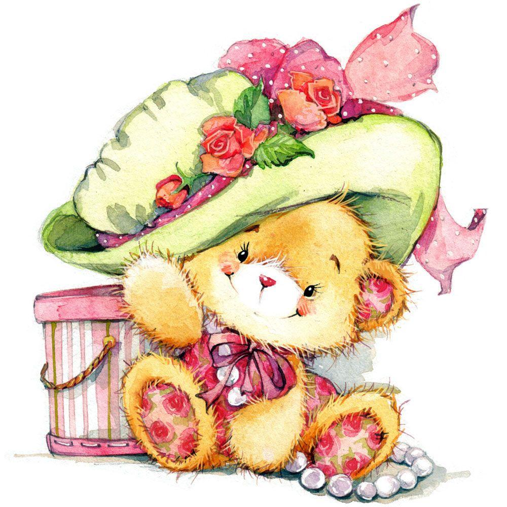 Мишки открытки милые