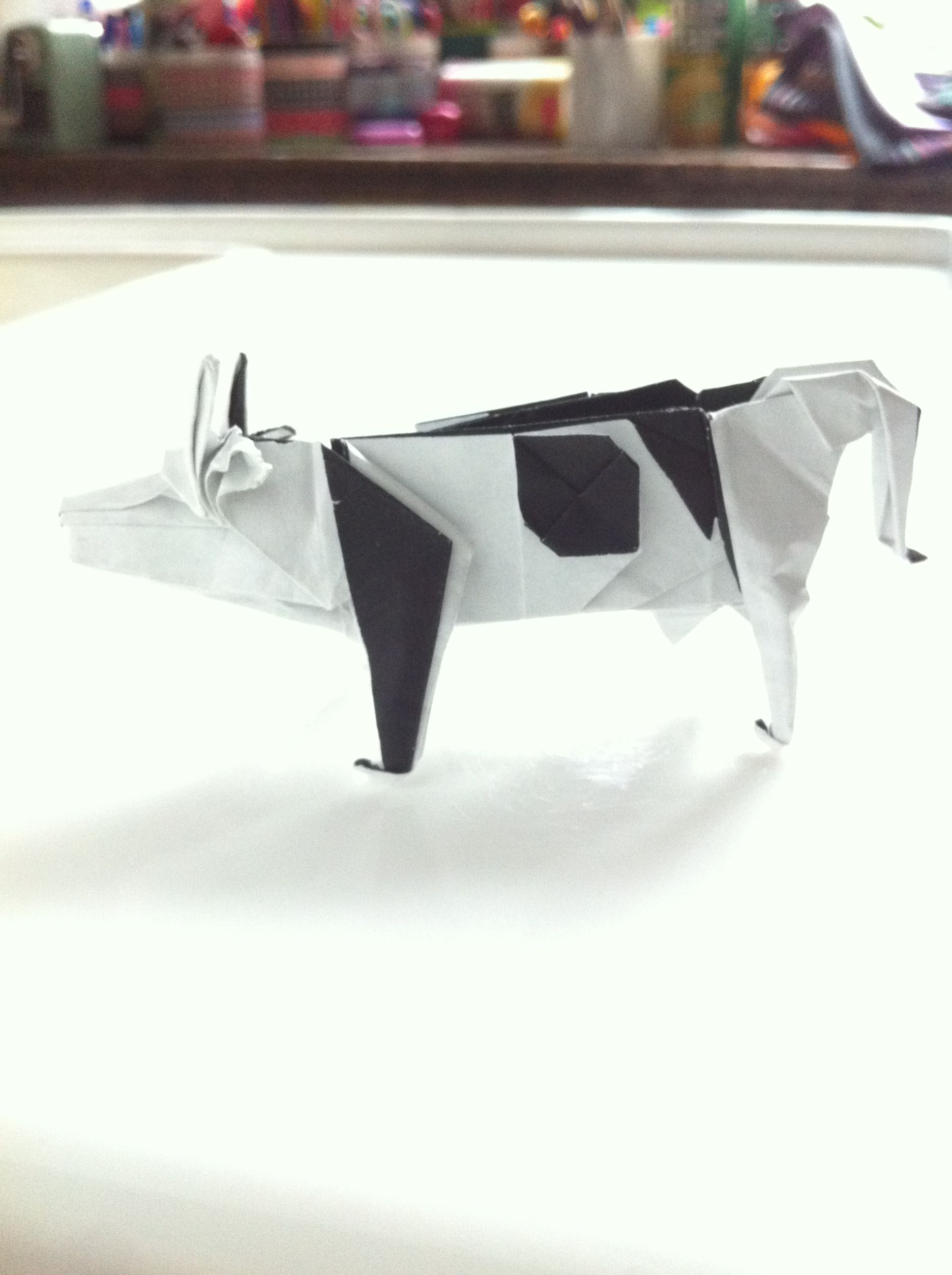 Origami Cow Designed By John Montroll Folded Ty 2014 Diagram Available In
