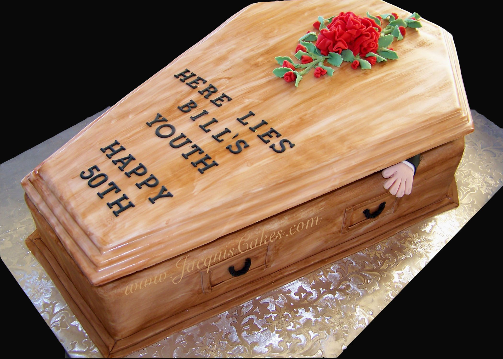 50th Birthday Cakes for Men Coffin Cake for a 50th ...