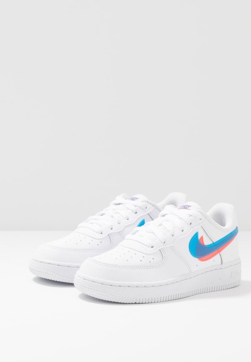 Force 1 Lv8 Sneakers White Blue Hero Bright Crimson Zalando Dk Hvide Sko Sneakers Nike Sko Sneakers