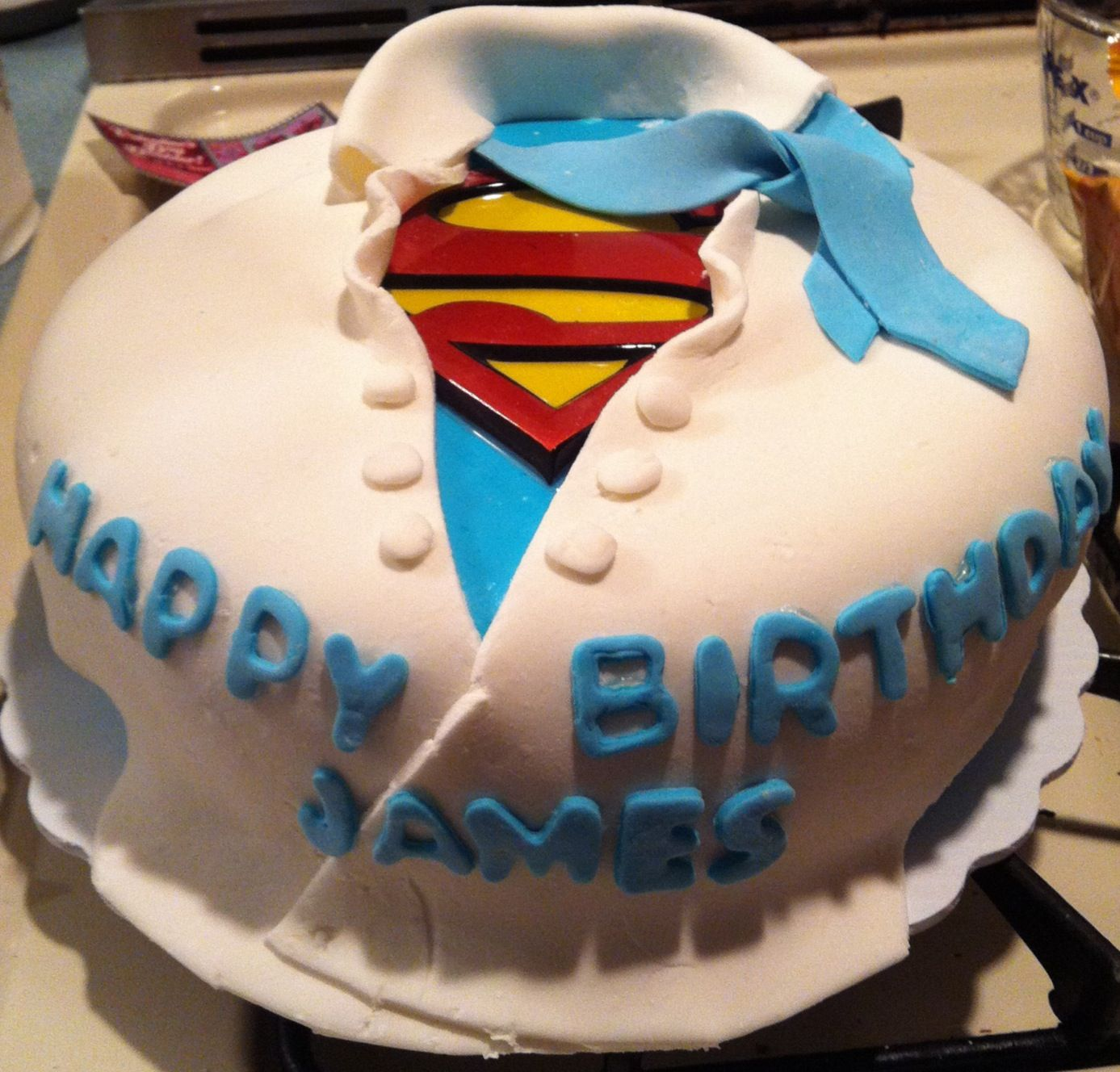 Birthday Cake Ideas For My Husband : My husbands superman cake I made for his birthday Cake ...