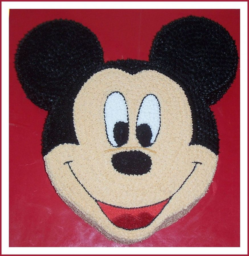 Mickey Head Cakes 12 Inch Mickey Mouse Head With 6 Inch