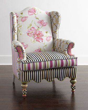 Summerhouse Wing Chair by MacKenzie-Childs at Neiman Marcus.