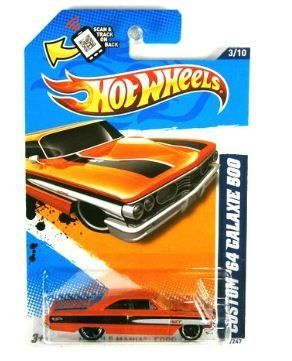 Hot Wheels 2012, Custom '64 Galaxie 500, Musclemania-Ford '12, 113/247. 1:64 Scale. by Mattel. $0.30. 1:64 Scale die cast. Ages 3 and up. Custom '64 Ford Galaxie 500