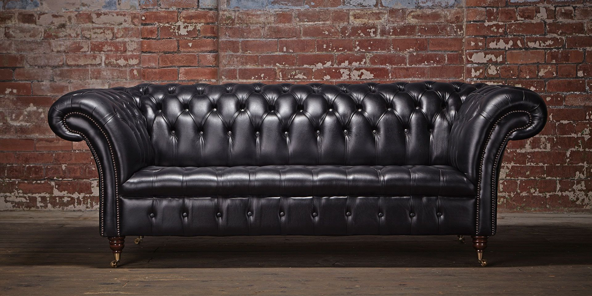 Dark Grey Leather Chesterfield Sofa Pacific The Cliveden Lounge Area Pinterest