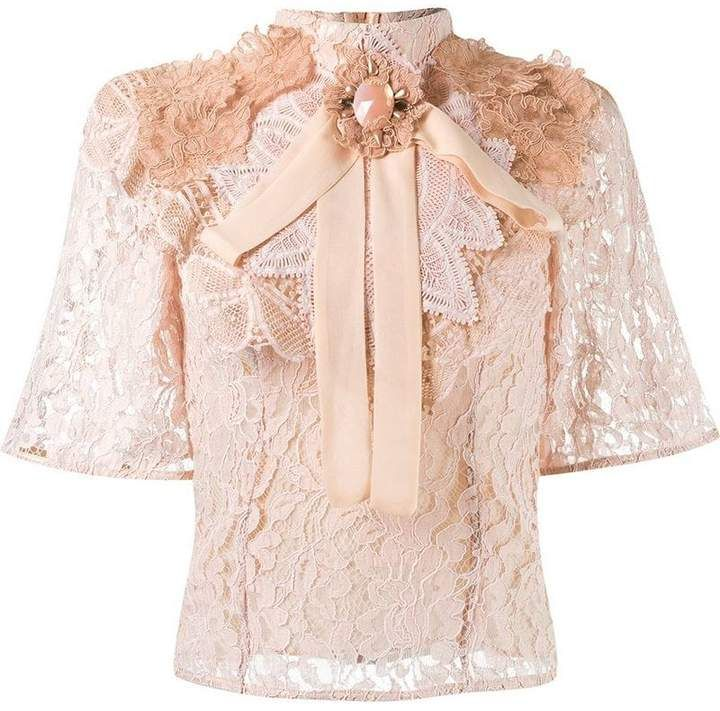 3df2f67a Martha Medeiros lace embellished blouse | Ruffle love❤ in 2019 ...