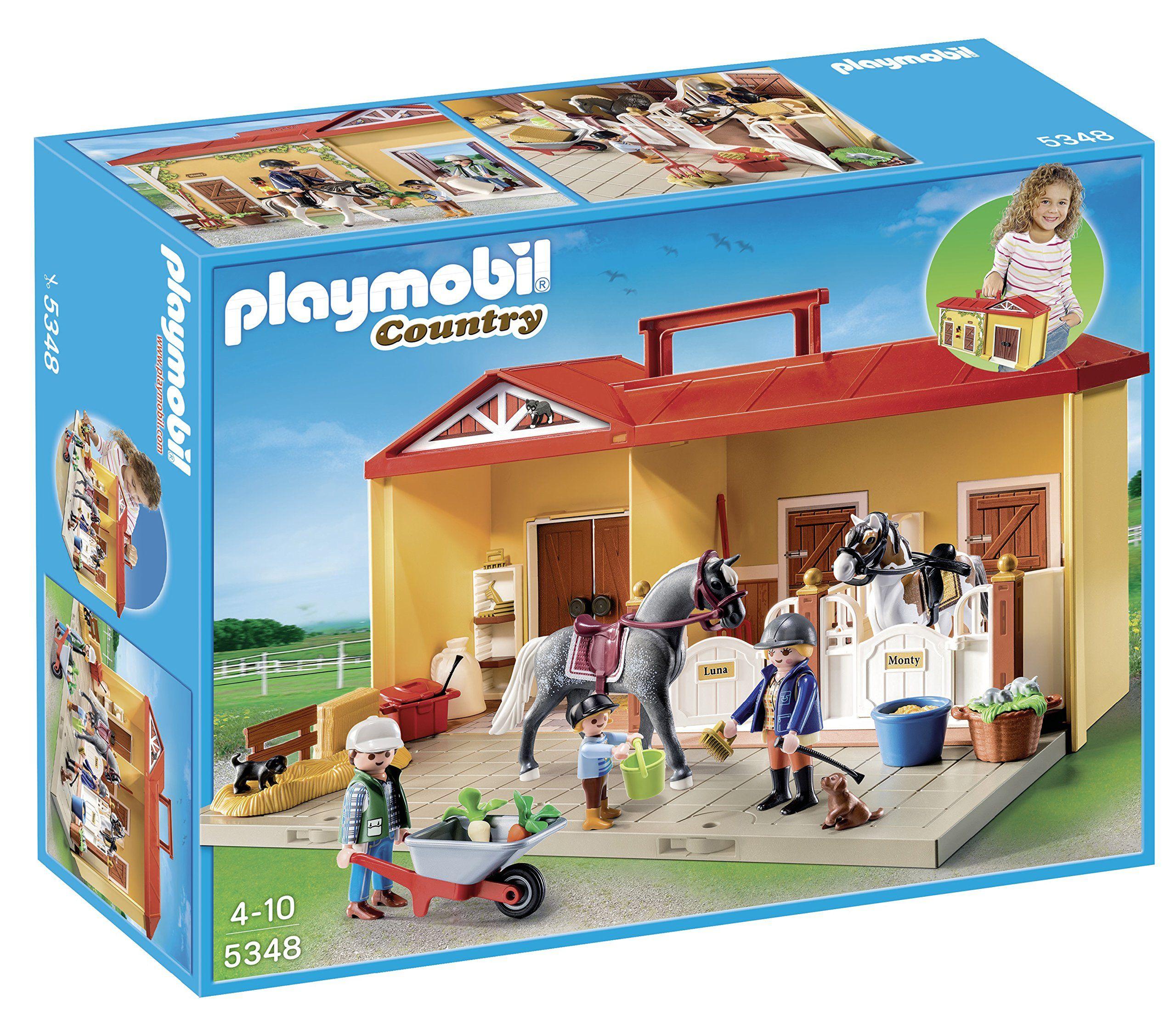 Jeu A1502643 Playmobil Transportable Construction De Ecurie LMSzUpqVG