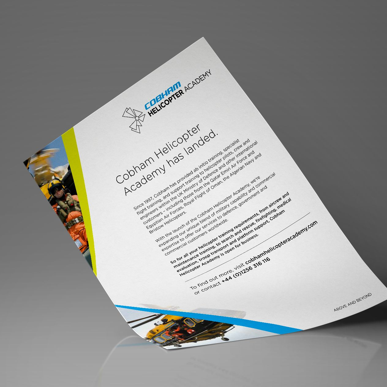Press Ad For Cobham Helicopter Academy Print Solutions Above And Beyond
