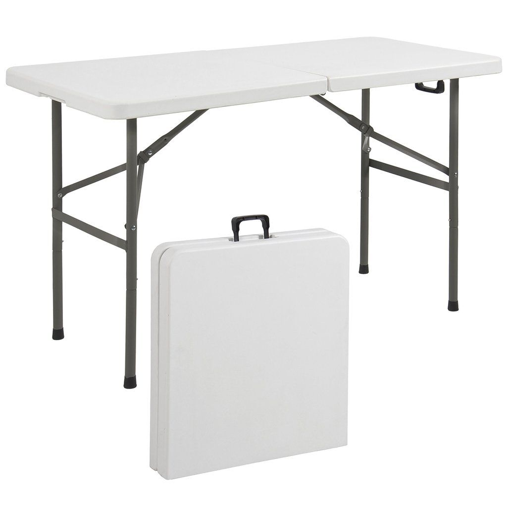 4ft Portable Folding Plastic Dining Table W Handle Lock Folding Picnic Table Folding Table Outdoor Dinning Table