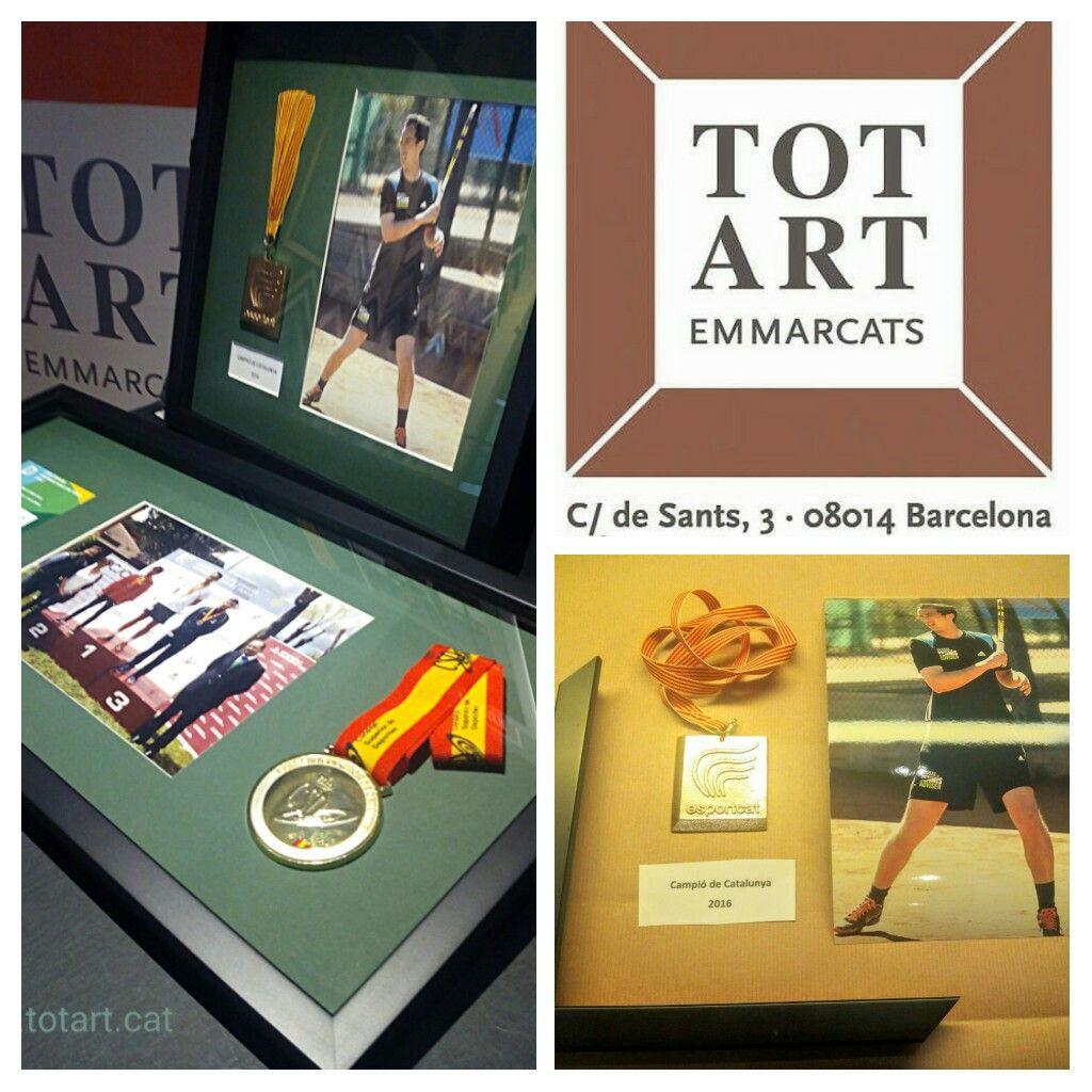 Enmarcamos tus premios y medallas deportivas totart.cat #marco ...