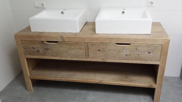 Idee badkamermeubel in teak ipv steigerhout badkamer pinterest