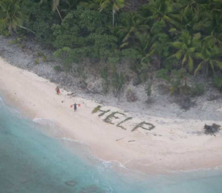 Desert Island Beach: These Guys Were Rescued From A Deserted Island By Writing