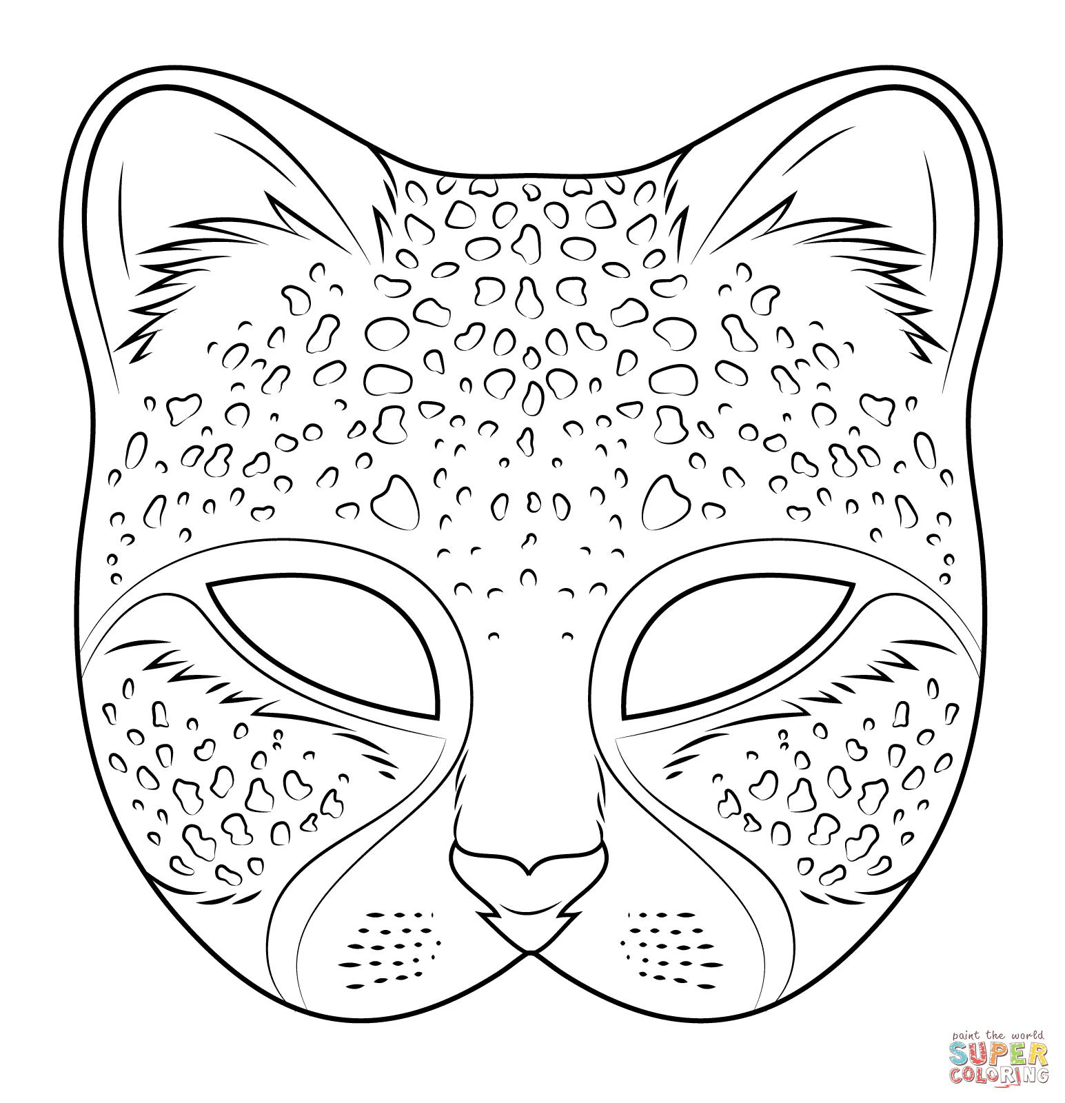 Cheetah Mask Coloring Page From Masks Category Select 27278 Printable Crafts Of Cartoons Nature Animals Bible And Many More