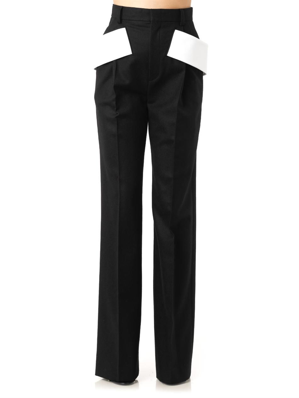 GIVENCHY Side-sash tailored trousers