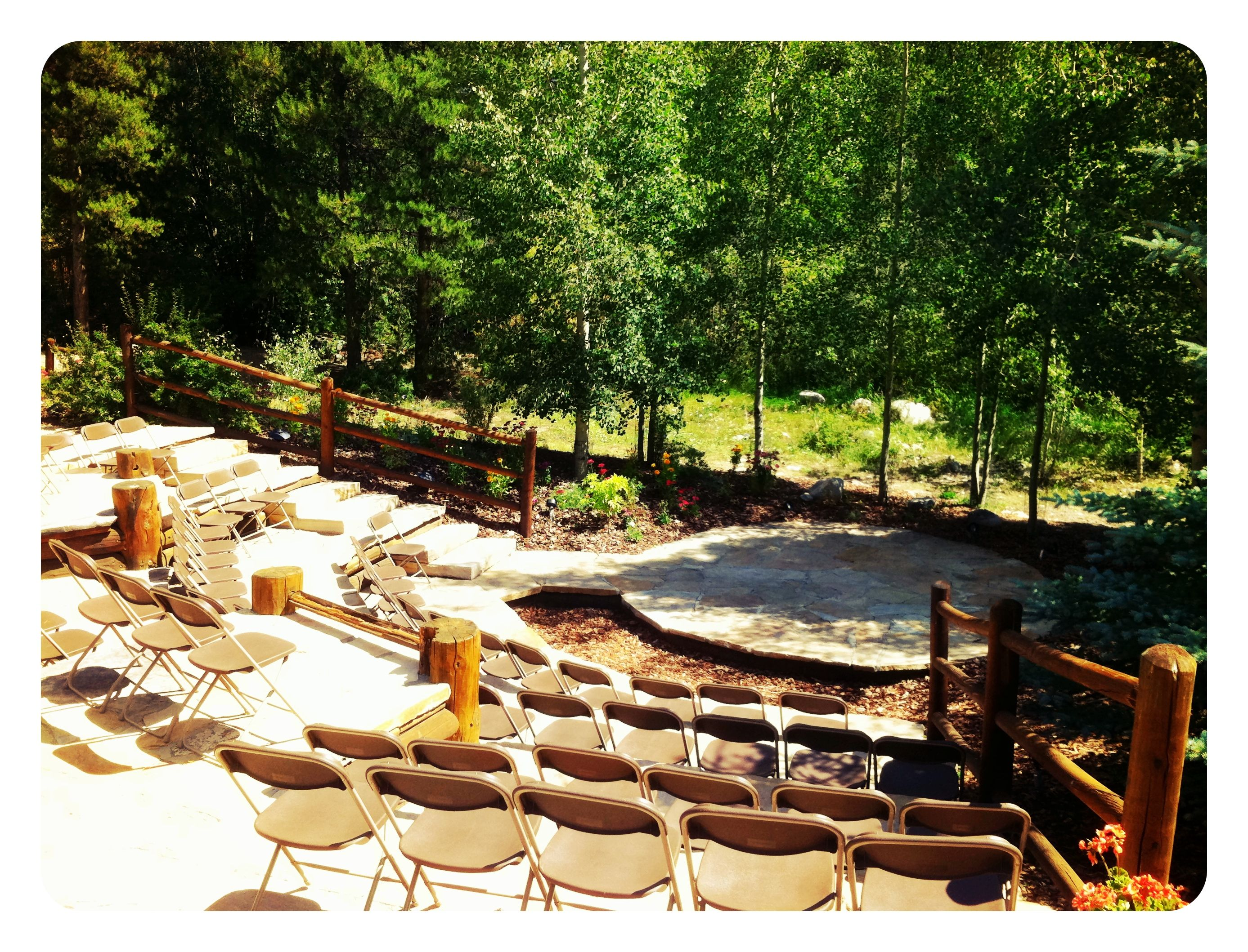 CEREMONY Quaking Aspen Amphitheatre Outside Wedding Ceremony Location In Keystone Colorado