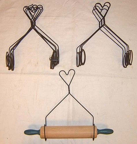 Display Your Rolling Pins In 2020 Wire Hanger Crafts Hanger Crafts Wire Hangers