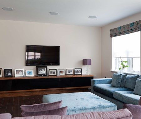Bespoke media unit and living room joinery | Living Interiors ...