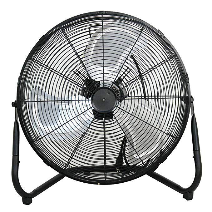 "Smartxchoices 20"" Black High Velocity Floor Fan Portable"