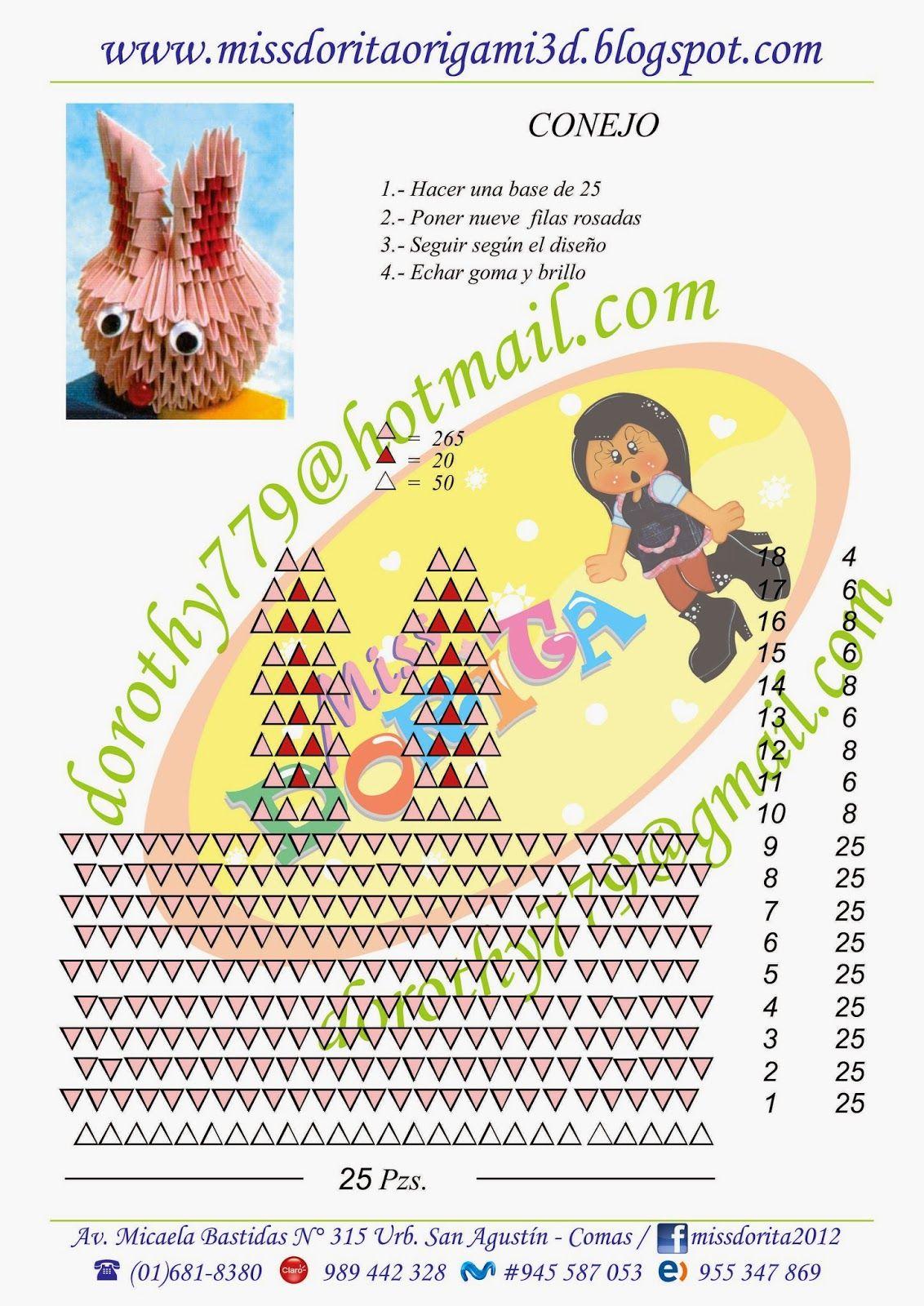 Molde Basic Course 3d Origami Miss Dorita Pinterest Diagrams Patterns Animals Design Crafts