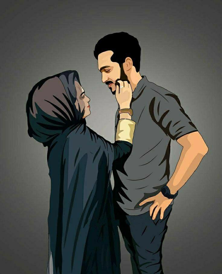 Cute Couple Stylish Couple Hd Wallpaper Cartoon