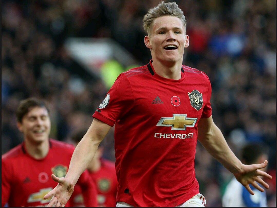 Scott Mctominay Wheels Away In Celebration Following Davy Propper S Own Goal In Front Of The Manchester United Manchester Official Manchester United Website