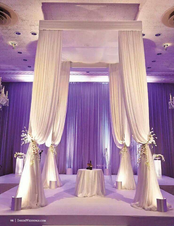 Sweetheart Or Cake Table With Draping Wedding Arbors Chicago Wedding Indoor Wedding Ceremonies