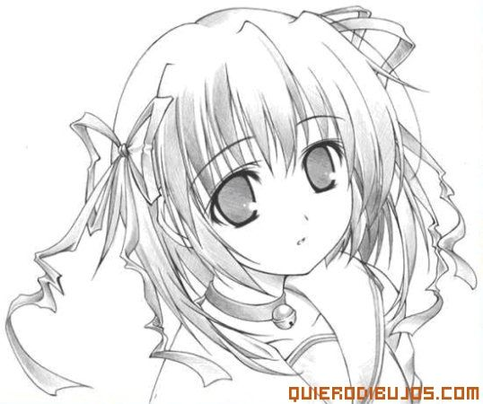 Chica anime para Colorear | animes | Pinterest | Anime